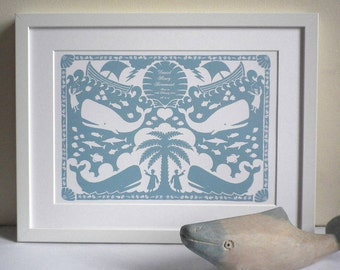 Personalised Jonah and the Whale Print