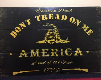 Dont Tread on Me Sign, wooden sign, Fathers Day Gift, Grandfather gift
