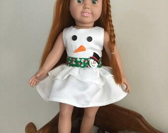 Snowman Doll Dress