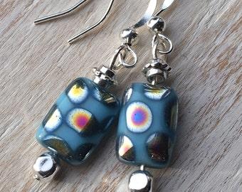 Glass bead earrings, handmade earrings