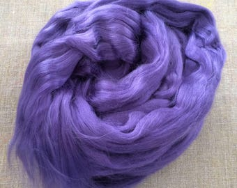 Purple Violet Dyed Bamboo Roving Vegan Fiber 100 gr Spin Flora plant fibre combed top viscose doll hair needlefelt spinning Free Shipping