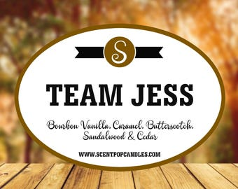 Team Jess, Gilmore Girls Inspired Soy Candle