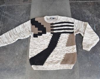 winter sweater graphic Large L M 0RISUVos9