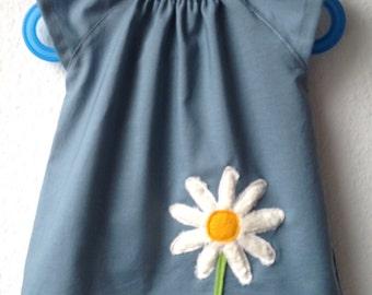 Grey-blue tunic blouse, Marguerite
