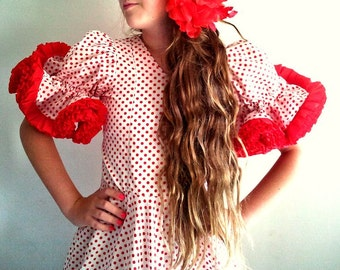 FLAMENCO VINTAGE  DRESS Made in Spain Flamenco Andalusian Outfit