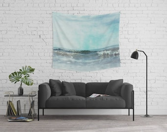 wall tapestry, large size wall art, wall decor, photo tapestry, modern tapestry, wall hanging, nautical decor, sea tapestry, ocean tapestry