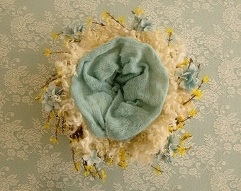 Blue Floral, Yellow floral, White lace, Digital Background, Newborn
