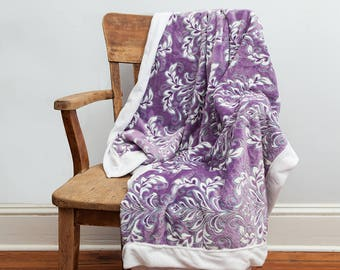Purple Throw Blanket, Purple, Throw Blanket, Soft Blanket, Purple Blanket, Purple Decor, Purple White, Minky Blanket, Purple Home Decor