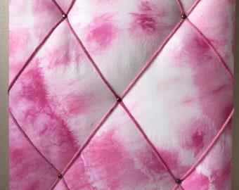 Pink Tie Dye French Memo Board/Notice Board