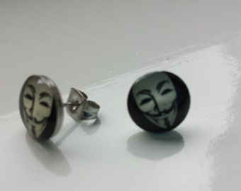 Anonymous inspired earrings