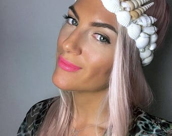 Ivory Sea Shell Pearl Mermaid Crown Hair Head Band