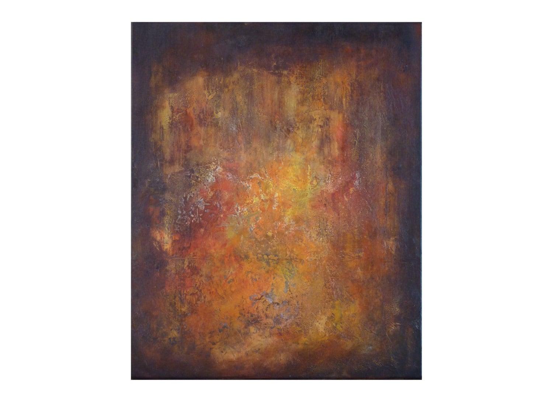 Blackboard abstrakte orange Rost moderne Farbe Textur Tiefe