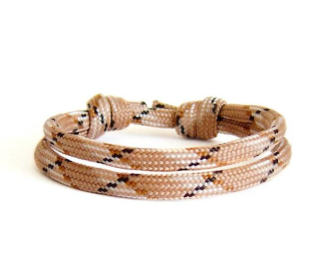 Mens Wrap Bracelet, Mens Rope Bracelet, Nautical Jewelry, Anchor Bracelet