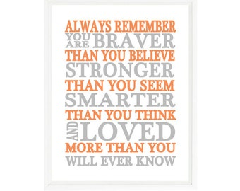 Always Remember You Are Braver Than You Believe Quote