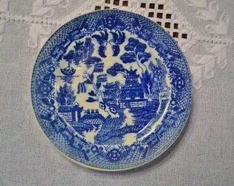 Vintage Flo Blue Blue Willow Bread Dessert Plate Japan Replacement Wall Decor PanchosPorch