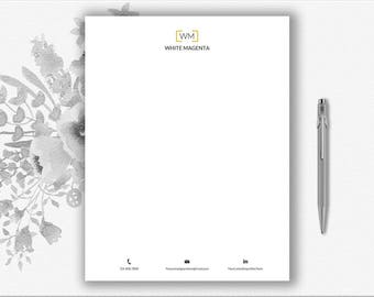 Personal letterhead etsy download stationery paper monogram design personal letterhead template business letterhead design diy spiritdancerdesigns Image collections