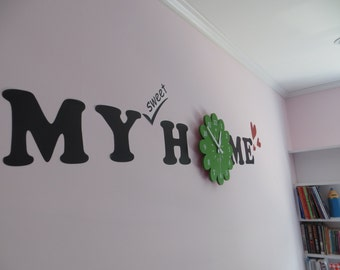 DIY Wall Sticker with Clock