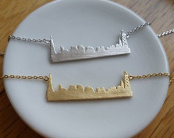 Gold Chicago Skyline Necklace