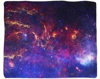 Milky Way Galaxy, Fleece Blanket, Printed in USA