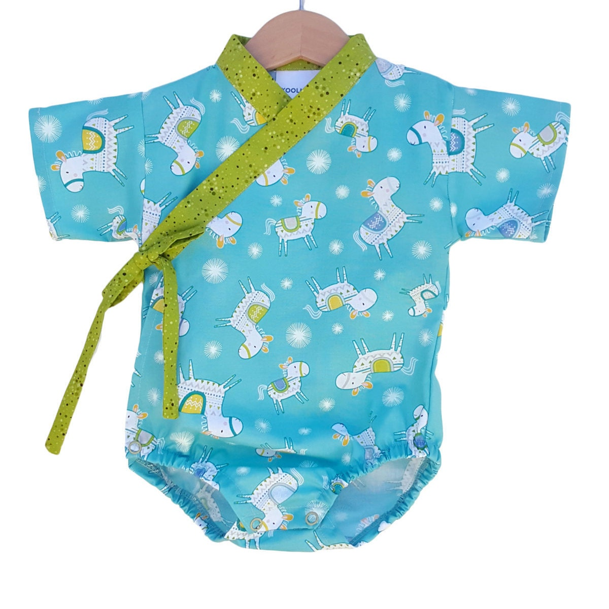 Baby Kimono Bodysuit Happy Horse Baby Outfit Cool Baby Clothes