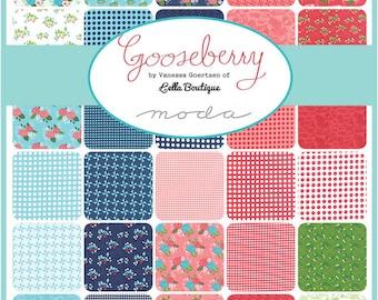 GOOSEBERRY Charm Pack Lella Boutique Vanessa Goertzen Moda Fabric ~ 42 Squares Total