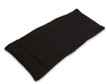 Extra Large Lumbar Microwave Heating Pad (10x24), Black, Body Heat Wrap, Washable Cover, Back Hip Shoulder Knee Pain Relief Bean Bag