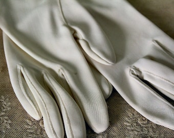 Stetson White Small Ladies Vintage Gloves