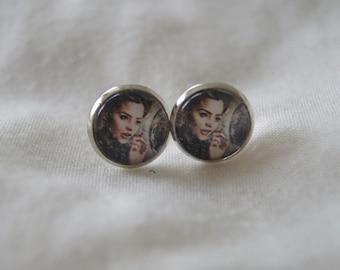 Clara Oswald/Dr. Who Cameo Earrings