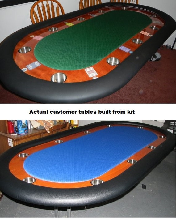 DIY   8u0027 Standard Racetrack Custom Poker Table Building Kit   13 Color  Choices   Build Your Own Poker Tables From PokerTableSupplies On Etsy Studio