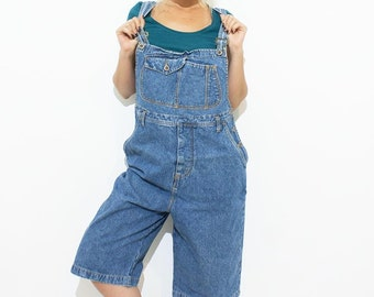 Vintage denim oversized dungarees