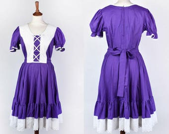 Vintage Purple and White Square Dance Dress || Partners Please