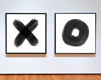 Set of 2 XO prints