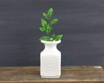 Mid Century Modern White Bisque Vase by Royal KPM Germany / Vintage Royal KPM Bisque Vase / Royal KPM White Porcelain Vase