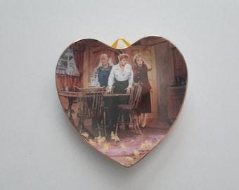 loving lucy s perienced chicken farmer heart plate 1998 hamilton