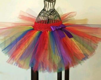 Rainbow Tutu, Girls Tutu, Rainbow birthday Tutu, rainbow wedding tutu, gay pride tutu, birthday tutu, wedding tutu, gay pride parade tutu
