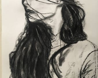 Obstinate - charcoal drawing