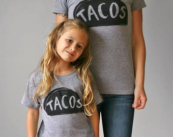 Mommy and Me Outfits, Taco Twosday Shirt, Taco party, mother daughter t shirt, mom son shirt, mommy and me shirts, mom daughter shirt
