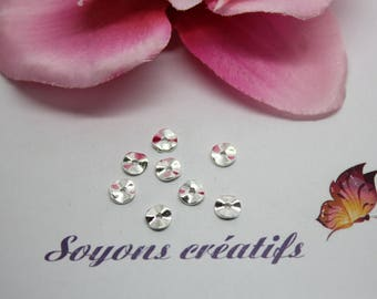 25 silver spacer beads round 6mm - SC0083746 - wave