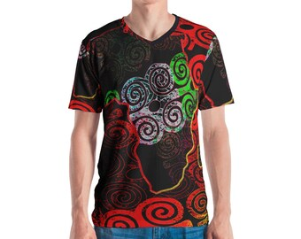 African Map All Over Men's T-shirt