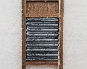 Miniature Washboard, Antique Washboard, Vintage Washboard, Dollhouse Accessories, Dollhouse Miniatures, Handmade, OOAK