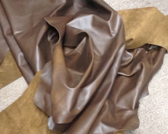Brown Pull-Up Leather Cowhide AB46