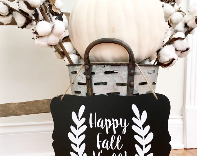 Happy Fall Y'all  Pumpkin Decal Vinyl Decal for Pumpkin Fall Happy Fall Seasonal Halloween Vinyl Decor Home Decor Outdoor Rustic Laurel