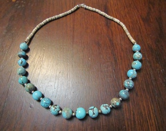 Turquoise and Heishe Necklace