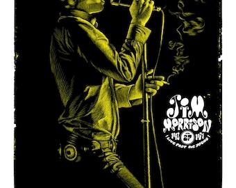 gig poster JIM MORRISON des Doors par Will Argunas