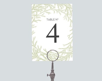 Printable Wedding Table Number Download 'Garland' // DIY TEMPLATE // Word Mac or PC // 5 x 7 // Change artwork colour // Luxury Design