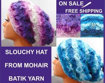 Slouchy knit hat, Slouchy Hat Women, Slouchy Winter hat, Crochet hat, Womans winter hat, Slouchy beanie hat, girlfriend gift