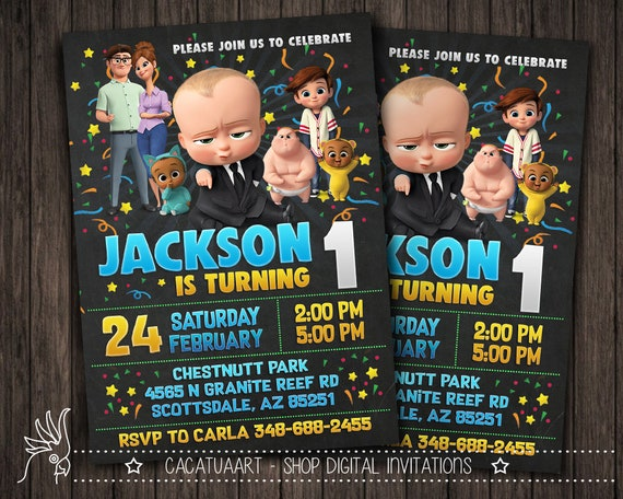 Boss Baby Printable Invitations Birthday Wikii