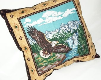 Eagle Pillow Cushion Handmade USA Use for Home Travel Sport Office Cotton American Flying Eagle Vintage Pillow Case Cover Use Your Own Fill