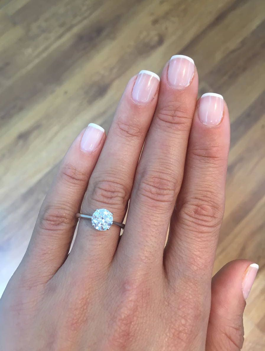 Engagement Ring 3.43 Carat Solitaire Diamond Engagement Ring