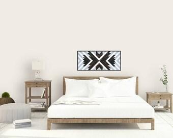 Reclaimed Wood Wall Art, Wall Decor, Twin Headboard, Lath, Geometric, Gradient, Mountain Decor, Lath, Wood Wall Art, Wood Decor, Rustic